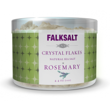 Rosemary Sea Salt Crystal Flakes by Falksalt
